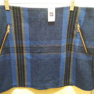 New With Tags Gap Blue Plaid Mini Skirt Size 14